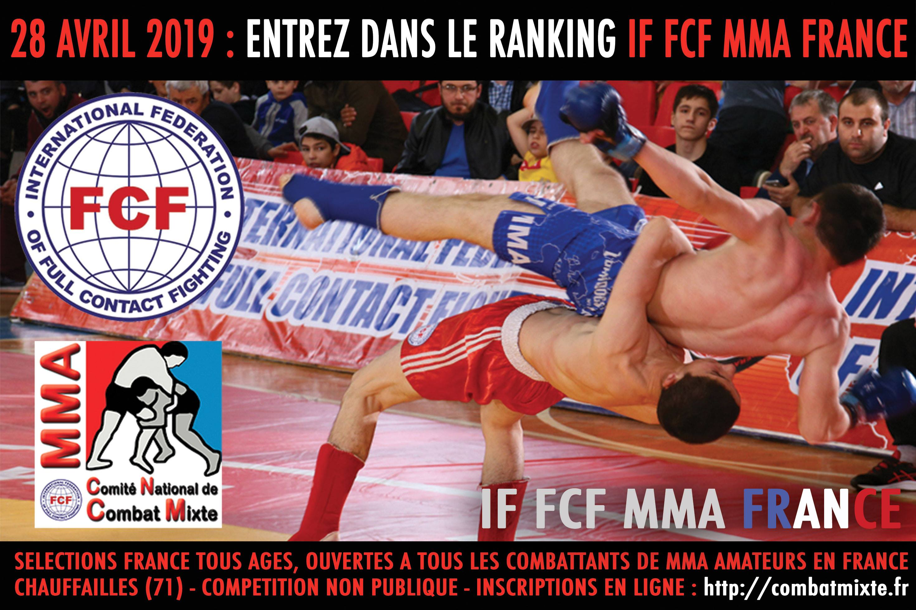 The French National Tournament FCF-MMA 2019 (selection to the World Champioship)
