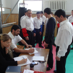 The judicial seminar of full-contact fighting.