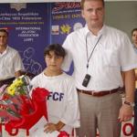 Президент IF FCF награждает Гасымову Генель за волю к победе